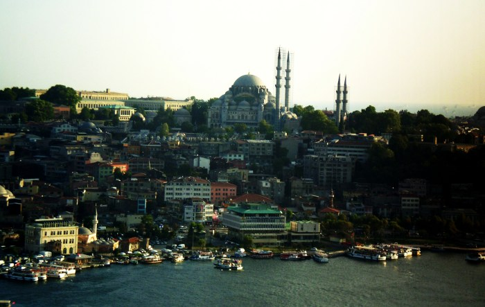 Mezquita de Suleiman desde Torre Galata, Estambul