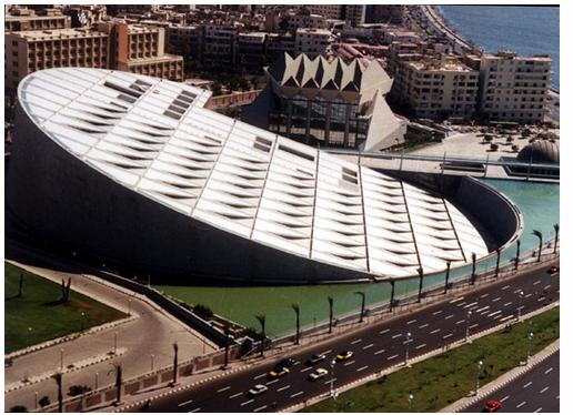 Biblioteca de Alejandria, Egipto