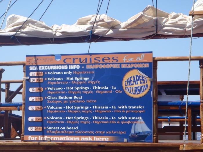 Excursiones Puerto de Fira