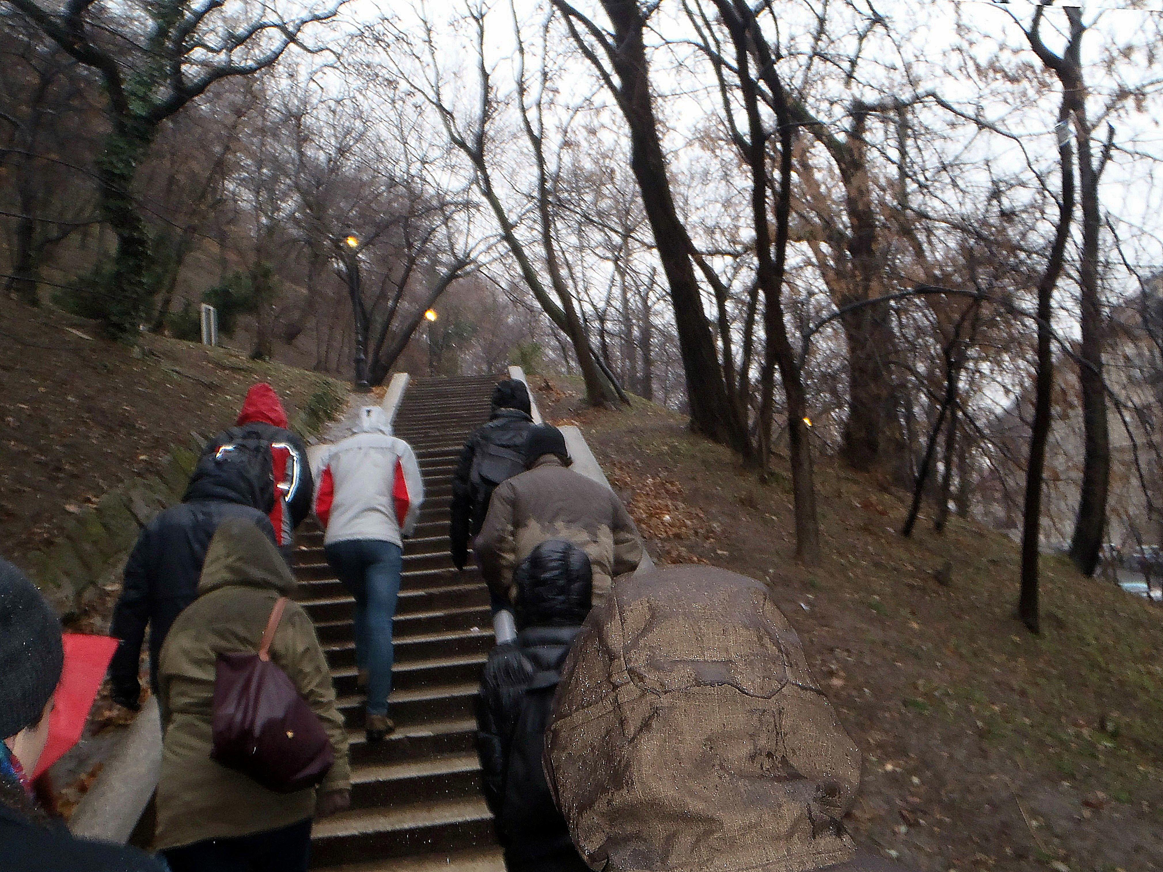 Subiendo a la Colina de Buda