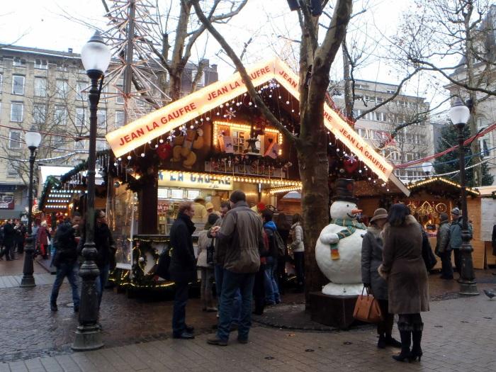 mercado de navidad Place D'armes luxemburgo
