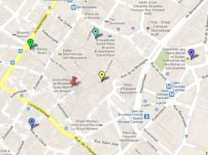 mapa alr. grand place