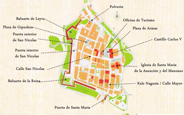 Mapa Casco Antiguo Hondarribia