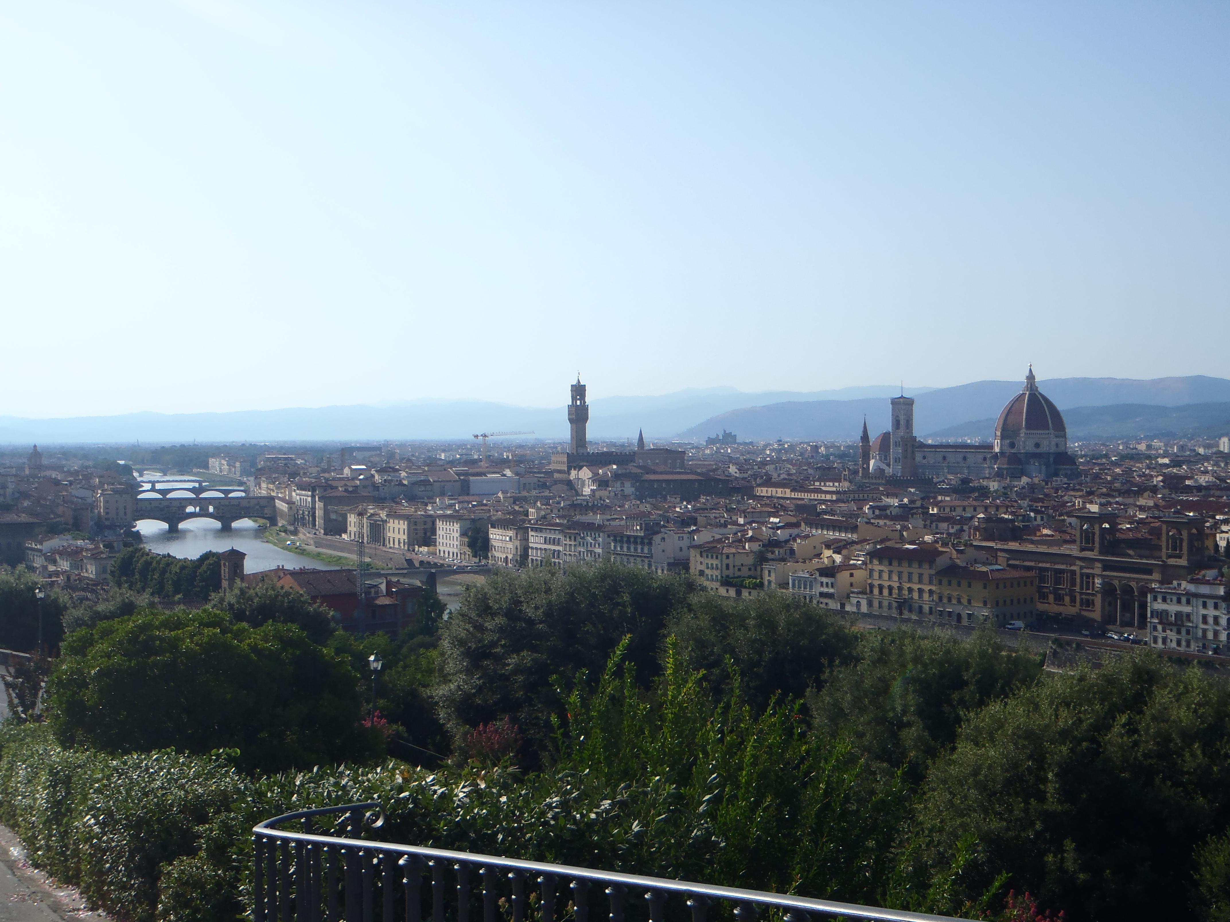 Vista de Florencia desde Piazzale Michelangelo