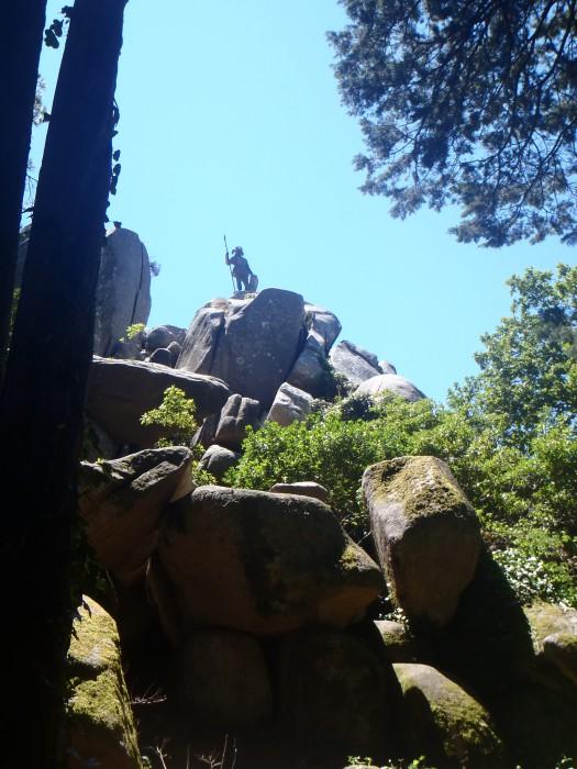 Estatua del Guerrero en Parque de la Pena