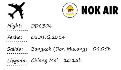 flight Bangkok - Chiang Mai