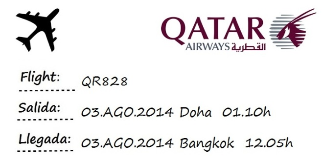flight doha bangkok