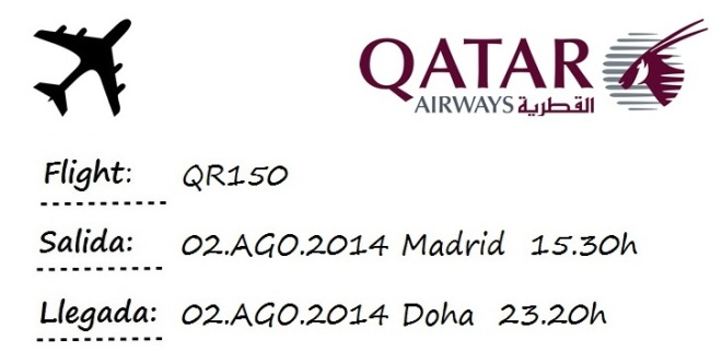 flight madrid doha