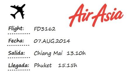 flight Chiang Mai-Phuket